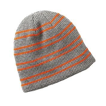 7a6422b98aa Urban Pipeline Grey Orange Striped Beanie Hat - One Size  Amazon.co.uk   Sports   Outdoors