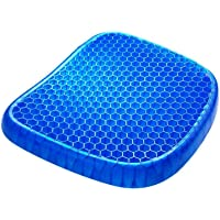 Gel Seat Cushion,Double Thick Egg Seat Cushion with Non-Slip Cover Breathable Honeycomb Pain Relief Egg Sitting Cushion…