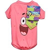 Nickelodeon Bob Esponja Squarepants Patrick Rosa Camisa para Perros & Verde Bandana Combo - Tamaño pequeño | Suave y…