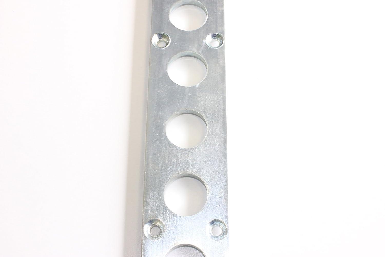 LaSi24 1x 1,5 m Rundloch Zurrschiene flach Rundlochschiene Stahl verzinkt 25 mm Lochma/ß
