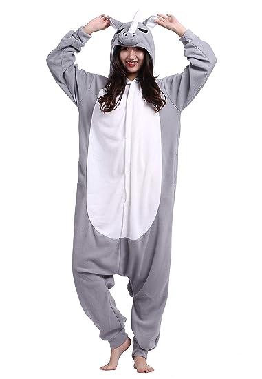 Pijamas Kigurumi Animal Entero Invierno Cosplay Traje Disfraz Adulto Pyjamas Carnaval Halloween Navidad Ropa de Dormir