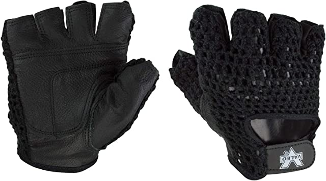 Weight Lifting Gloves Cycling Cycle Mesh Leather Fitness Training Padded Gloves