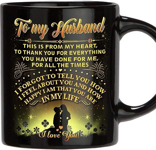 Amazon.com: Tazas regalo para marido – 11 oz Novedad café de ...