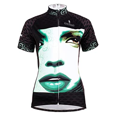 047bb5f48 Amazon.com  QinYing Women Breathable Short Sleeve Cycling Jersey Cool Face  Shirt  Clothing