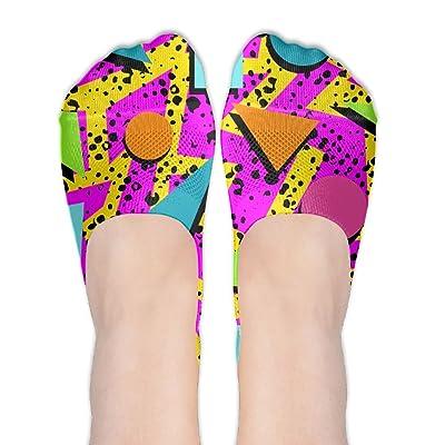 80s Memphis Female Polyester Cotton Socks Women Boat Socks Thin Casual Socks Low Cut Socks