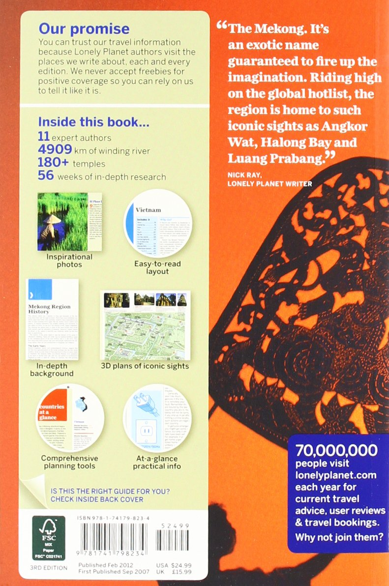 Lonely Planet Vietnam Cambodia Laos Northern Thailand Travel Guide Nick Ray Greg Bloom Austin Bush Iain Stewart Richard Waters