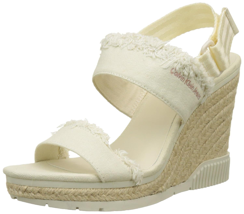 Calvin Klein Jeans R4056, Zapatos de Punta Descubierta Mujer 38 EU|Maril (Ofw)
