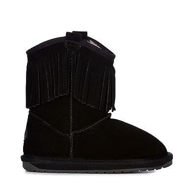 56388077866381 EMU Australia Kids Glaziers Kids Deluxe Wool Boots Size 1 Black
