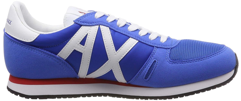 A X Armani Exchange - - - Turnschuhe zum Schnüren mit Logo Herren, Blau (Blau + Weiß), 37.5 EU M ddf289