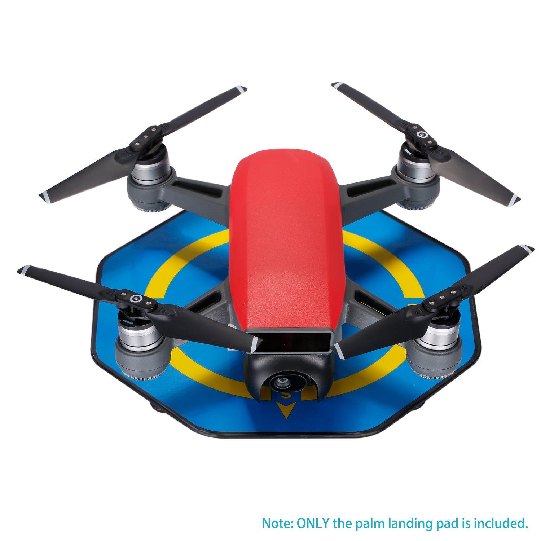 Naranja Helipuerto Port/átil Quadcopter Neewer Mini Almohadilla de Aterrizaje de Palma para DJI Spark Drone 17-cent/ímetro