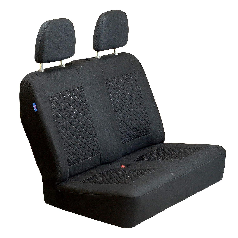 Zakschneider Canter Autositzbezug Set 1+2 Farbe Premium Schwarz gepresstes Karomuster