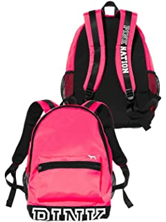 Victoria s Secret PINK Campus Backpack Neon Hot Pink a449bc42c0061