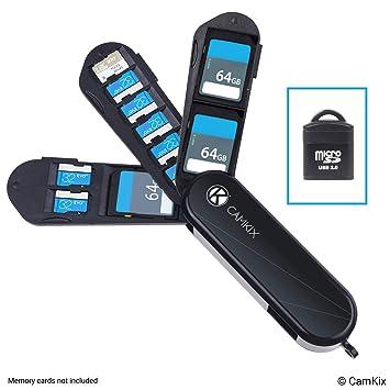 Estuche de Almacenamiento de Tarjeta de Memoria con Lector Micro SD (USB) - Diseño Tipo Navaja Suiza - Se Adapta a 2X SD (SDHC/SDXC / TF) y 8X Micro ...