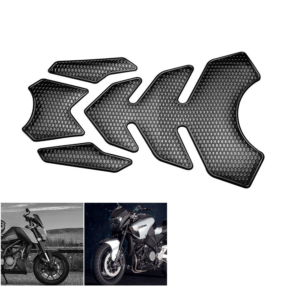ONEVER 3D Motorcycle Sticker Autocollants gaz huile R/éservoir de carburant Pad de protection pour Suzuki Yamaha Kawasaki Honda Harley