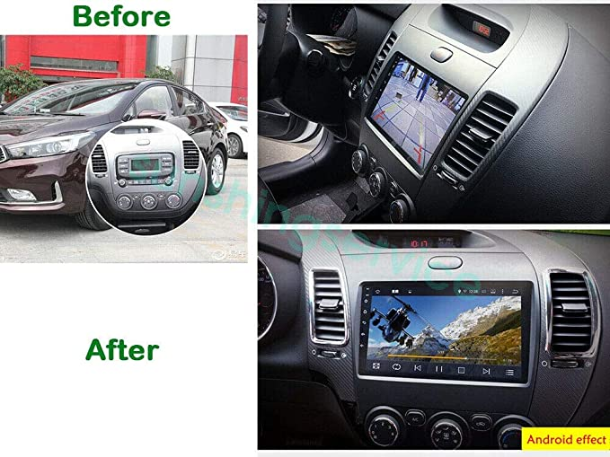 Android 9 1 1 16 G Car Dvd Player Radio Gps Navigation For Kia Cerato K3 Forte 2013 2015 Car Electronics Amazon Com
