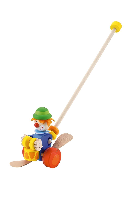 Trudi 82190 - Schiebe oder Clown -Schiebe- und Nachziehtiere Kleinkind / Schiebespielzeug