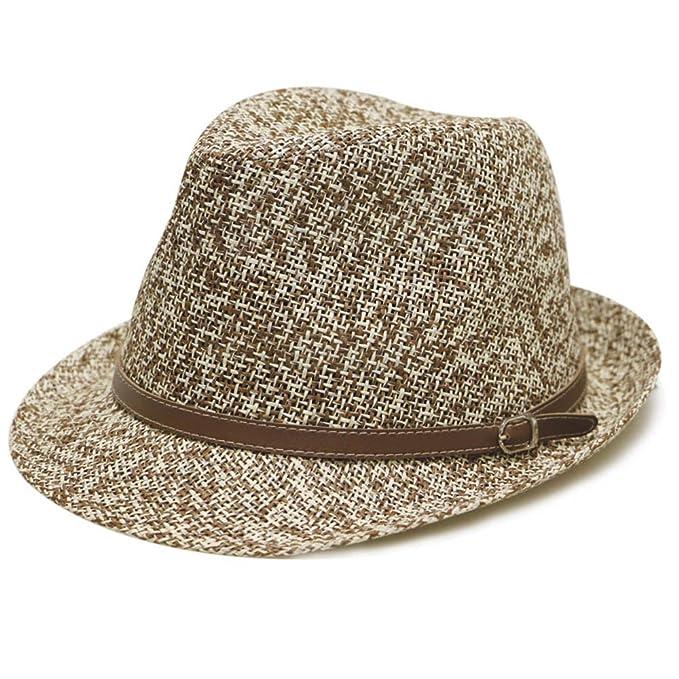 5e1ac765788 Pamoa Pms510 Dent Trilby Summer Fedora Hat 2 Colors at Amazon Men s ...