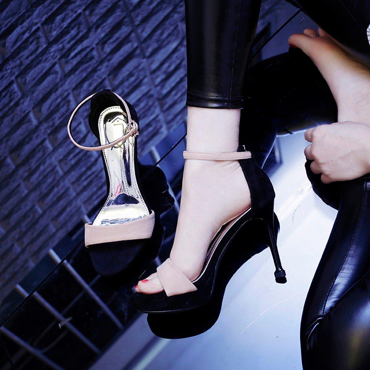 JRFBA-Schuhe schuhe mit hohen absätzen, frauen und mädchen in ihren sommer - ausgabe, wasserdichte tabelle, 10cm sexy Sandalee.