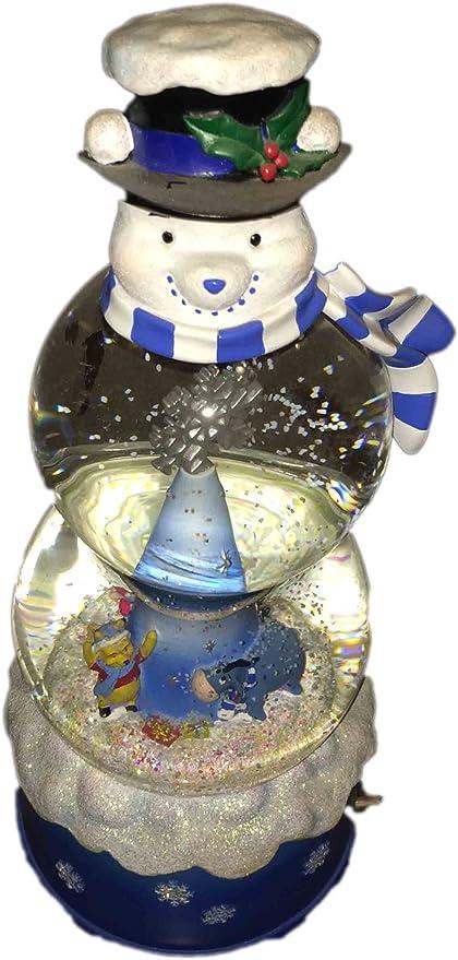 Disney Christmas Snow Globes.Amazon Com Disney Store Winnie The Pooh Snowman Snow Globe