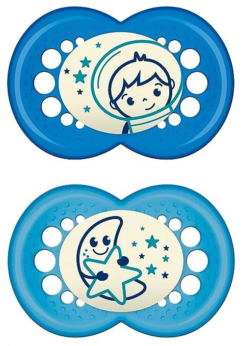 """280 opinioni per MAM 111211- Ciuccio """"Night"""" in silicone per bambini dai 6 ai 16 mesi, senza BPA,"""