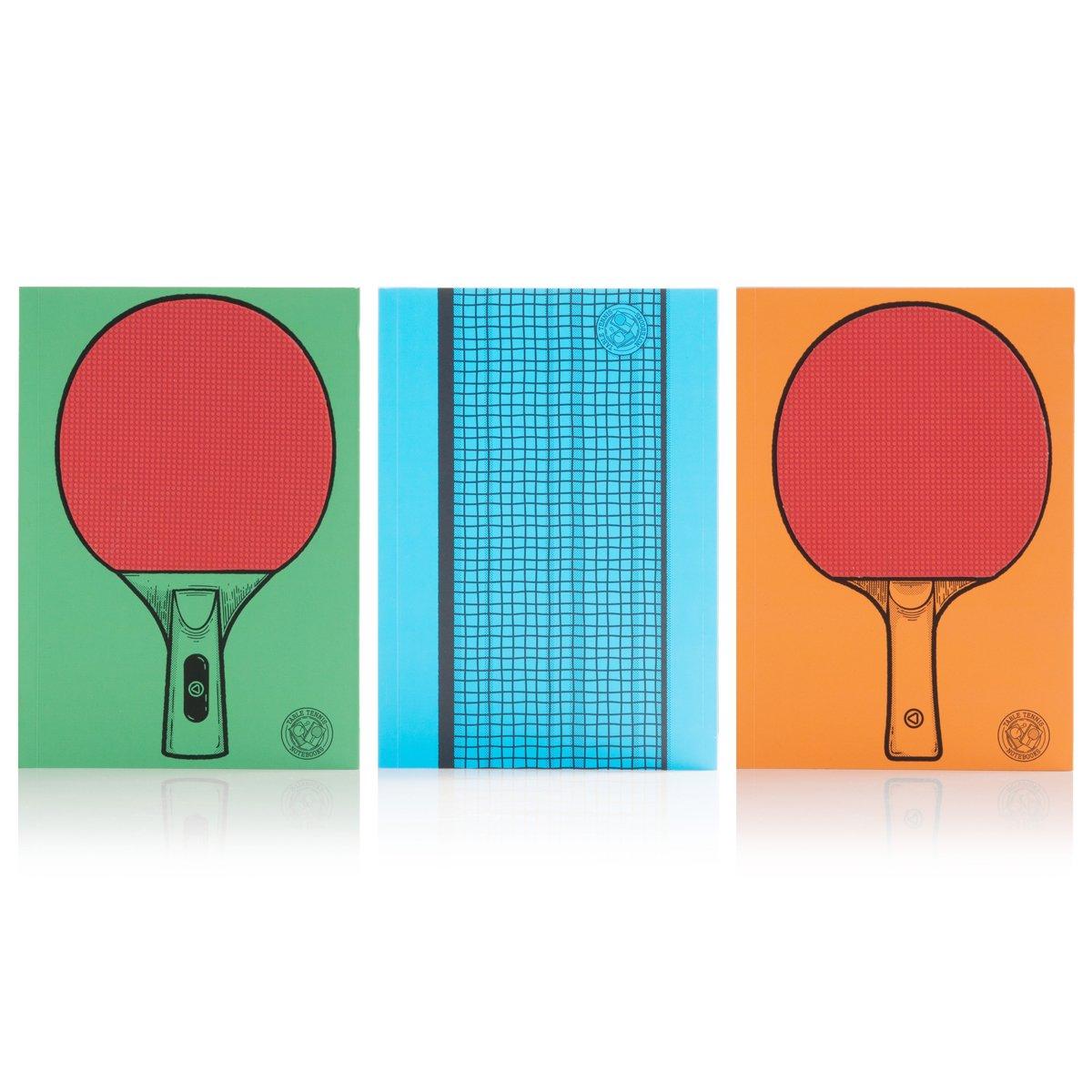 Suck UK Carnet de Tennis de Table –  Lot de 3 SK NOTETABTEN1