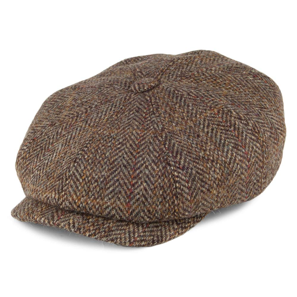 1098b215f21333 Stetson Hatteras Harris Tweed Wool Flat Cap Men at Amazon Men's Clothing  store: