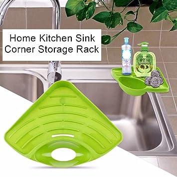 Modern Kitchen Sink Corner Rack Holder For Sponge Wops Caddy