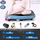 BU-KO Power Fit Platform Fitness Motor Power Vibration Plate   Oscillation and Linear Vibration Exercise Movement   Ultimate Fat Loss Full Body Fit and Shaper Workout Platform Machine