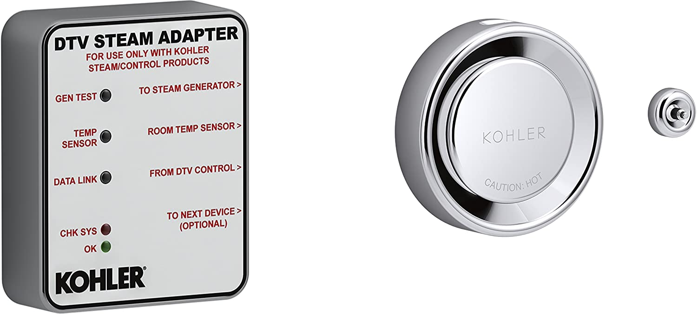 KOHLER K-5548-K1-CP 5548-K1-CP DTV+ STEAM Adapter KIT, Single, Polished Chrome