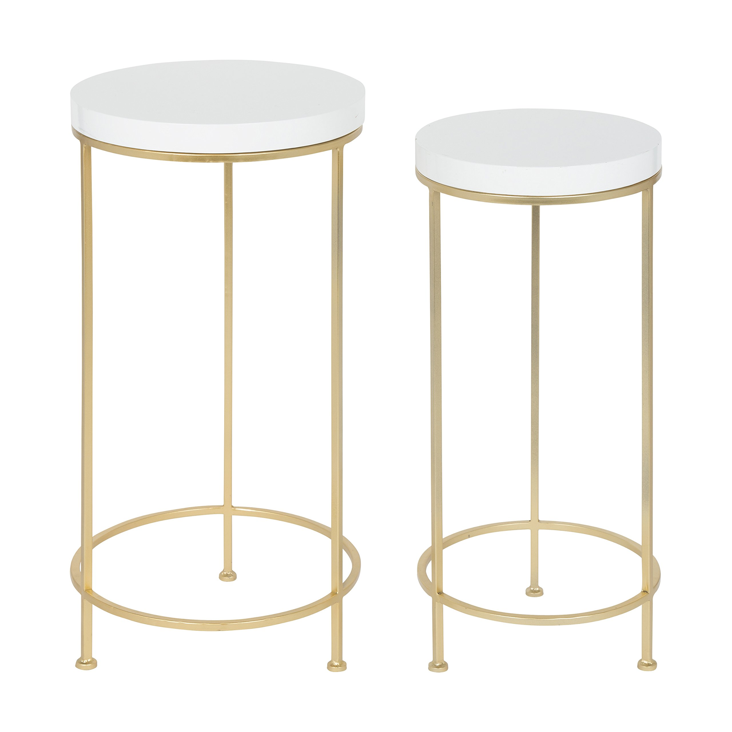 Kate and Laurel Espada Metal and Wood Nesting Tables, Gold by Kate and Laurel