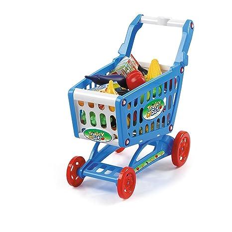 Carrito de la compra de juguete para niños - Con 78 accesorios - Tamaño ideal
