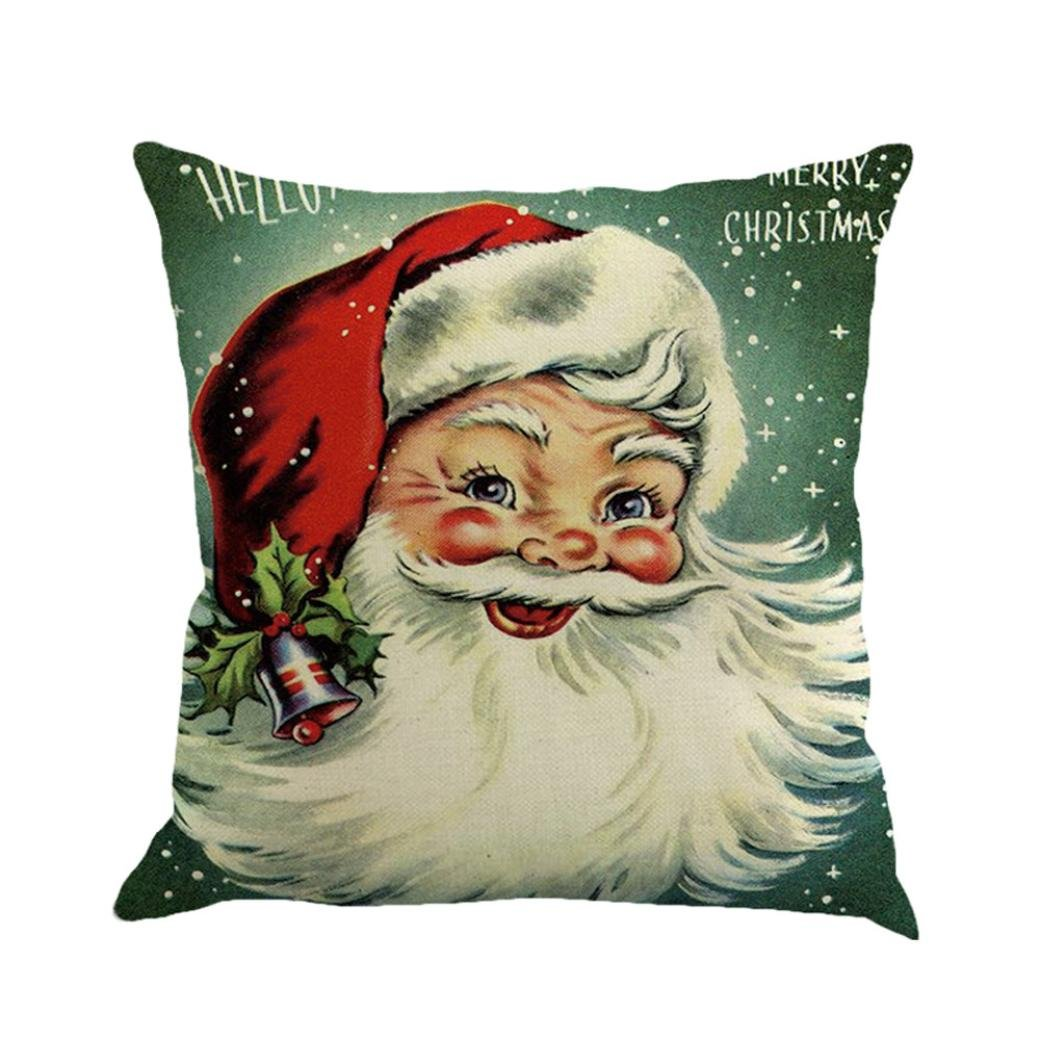Hot Sale! Christmas Printing Dyeing Sofa Bed Home Decor Pillow Cover Cushion Cover 45cmx45cm By Kavitoz (A)