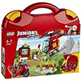 LEGO JUNIORS Fire Fighting Corps Set Helicopter & Motorcycle 10685