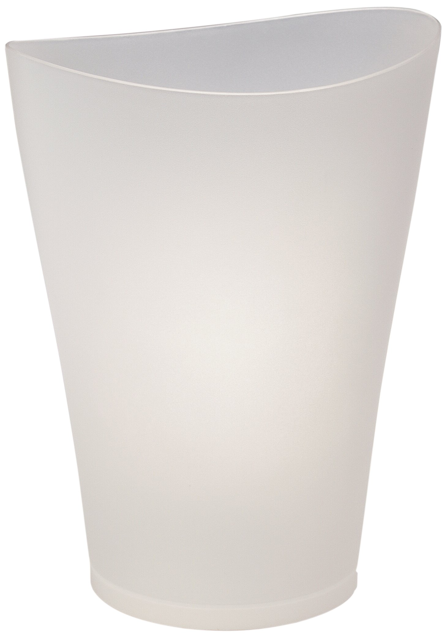 Rubbermaid FG290200CLR Spa Works Vanity Wastebasket, 9-Quart, Clear