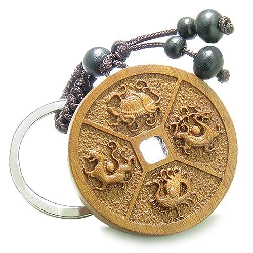Amazon.com: Amuleto moneda de la suerte Sandalia Madera Feng ...