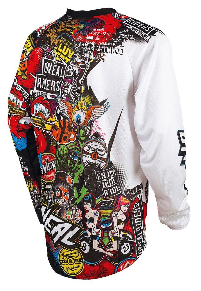 Camiseta de MX Oneal 2019 Mayhem Lite Crank Negro-Multi