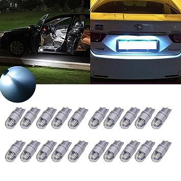 TUINCYN T10 3030 2SMD - Bombilla LED de cuña blanca para interior de coche, luz de recambio ...