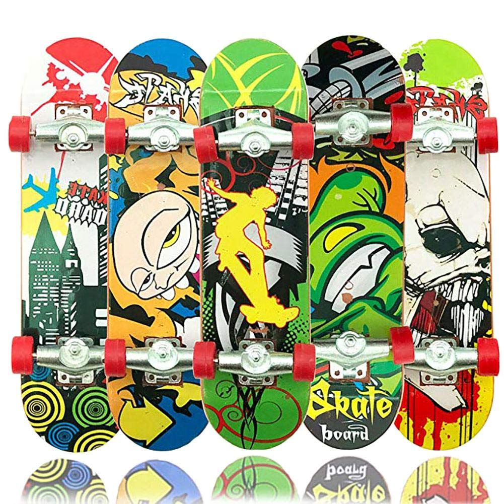 12 St/ück Legierung Fingerskateboard Set Mini Skateboard f/ür Kinder