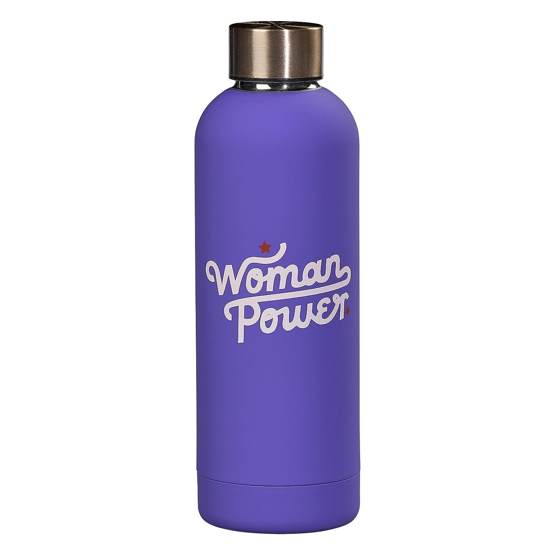 Purple oz Yes Studio AYST037 Woman Power Water Bottle 17 fl