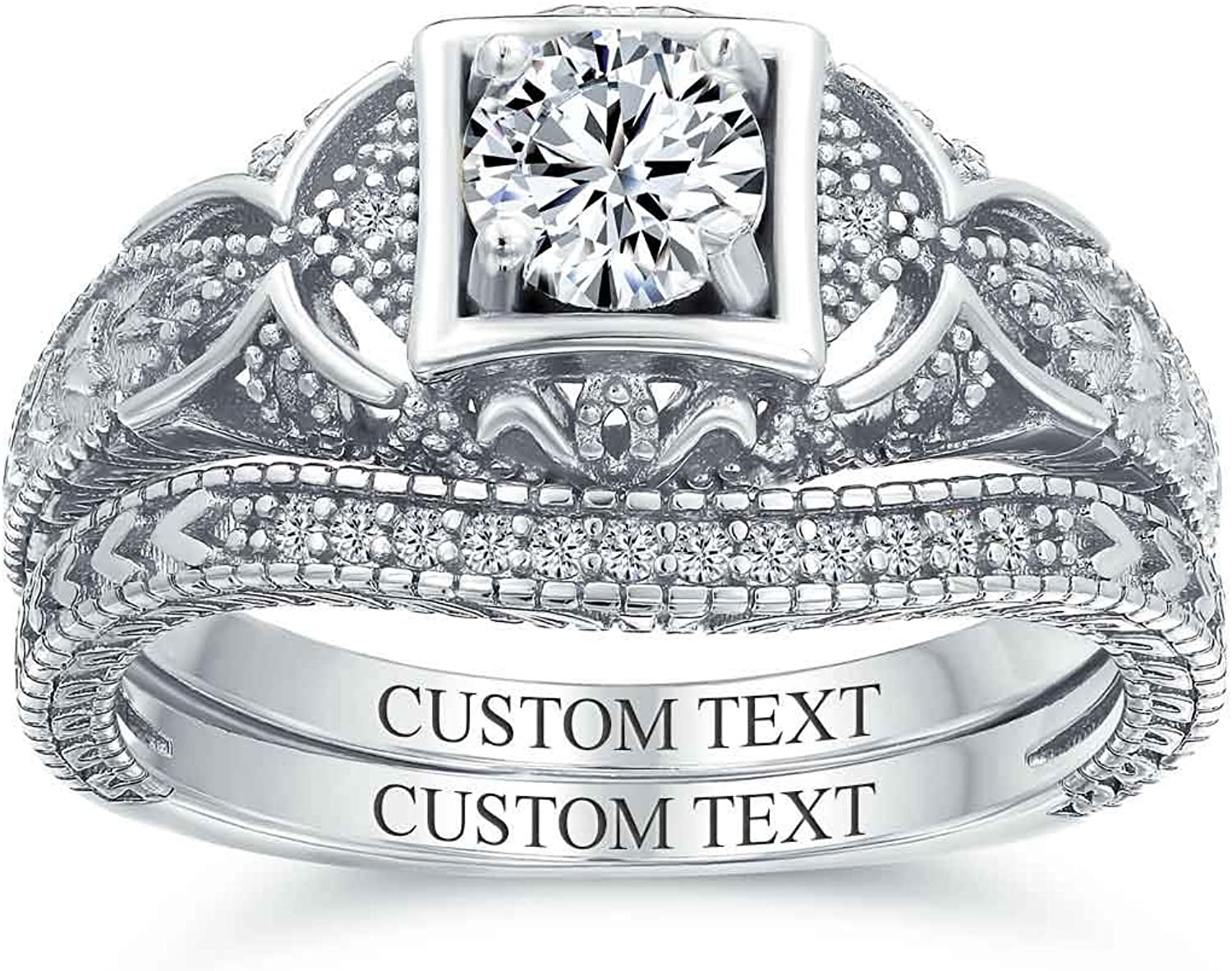 Details about  /Solitaire Style Art Deco 1.50 Carat Simulated Diamond 925 Silver Victorian Ring