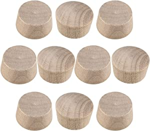 uxcell Wood Button Top Plugs 1/2 Inch Cherry Hardwood Furniture Plugs 9/25 Inch Height 100 Pcs