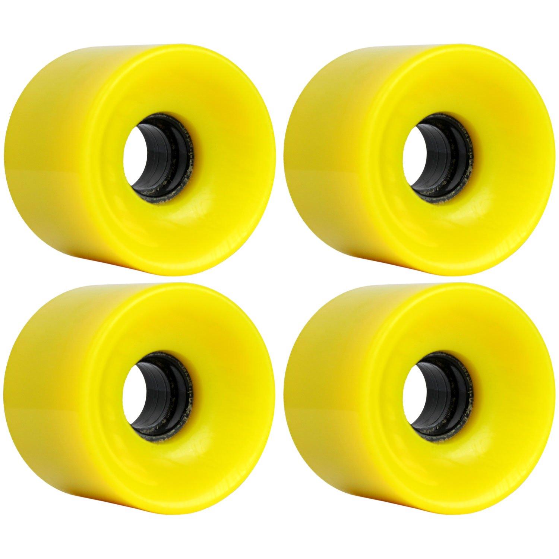 TGM Skateboards Longboard Cruiser Wheels Set 65mm x 51.5mm 83A 012C Yellow W-DW-65X515-83A-012YEL x4