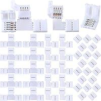 40 Piezas Conectores de Luces de Tira LED Conector de Luces de Tira RGB 4 Pines…