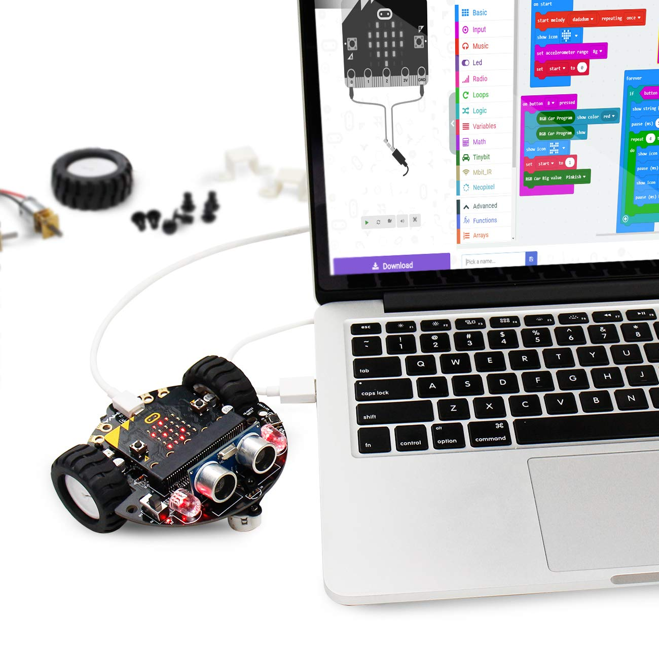 Yahboom Robot Kit for Micro:bit to Learn Programming STEM Education Toy Car for Kids 8+ (Without Micro:bit) by Yahboom (Image #4)