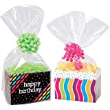 Clear Cello Basket Cellophane Bags - Gift Package Flat Gift Bag. (12x18) by Better crafts