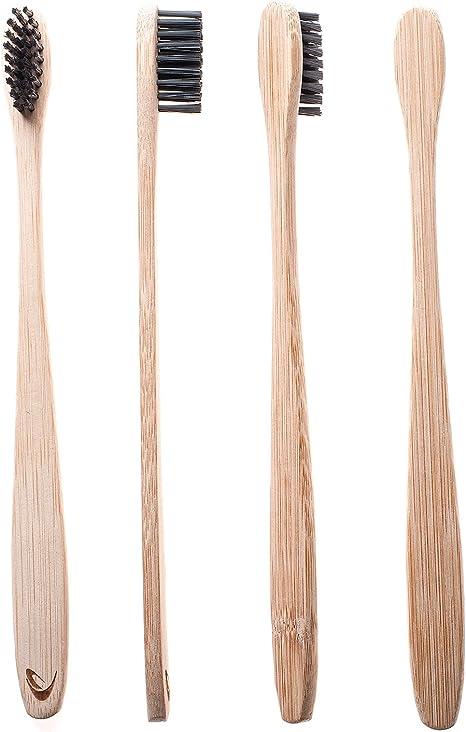 Cepillo de dientes de bambú con cerdas de carbón de TEVRA ...