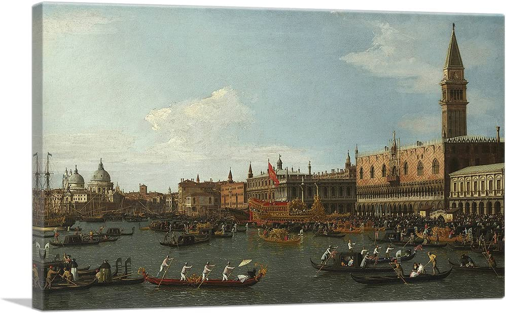 Amazon Com Artcanvas Return Of Il Bucintoro On Ascension Day 1745 Canvas Art Print By Canaletto 12 X 8 0 75 Deep Posters Prints