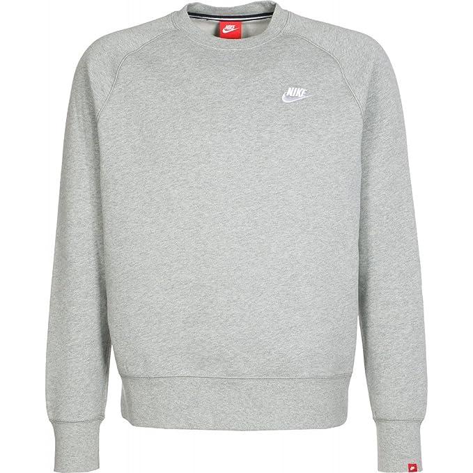 Nike Aw77 Flc Crew Pull pour homme, Gris / Blanco (Dk Grey Heather/Dk Grey  Heather/White), XXXL: Amazon.fr: Chaussures et Sacs