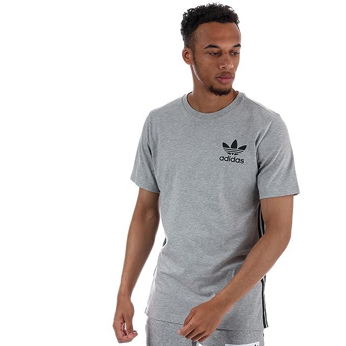adidas Originals - Camiseta - para Hombre Gris Gris Small: Amazon.es: Ropa y accesorios