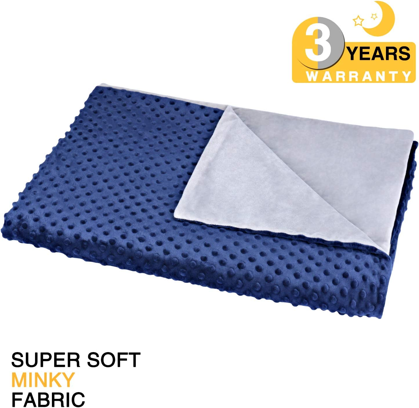 """bedextra Removable Duvet Cover for Weighted Blanket Super Soft Minky Fabric 